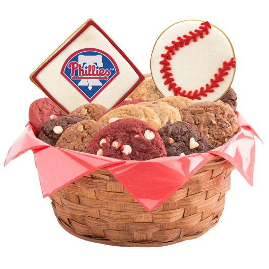 MLB Cookie Basket - Philadelphia Phillies