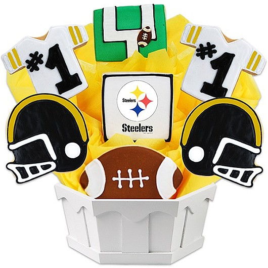Football Bouquet - Pittsburgh Cookie Bouquet