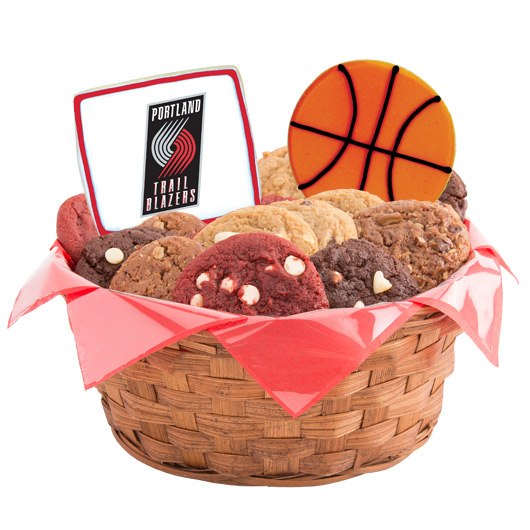Pro Cookie Basketball Cookie Basket - Portland Trail