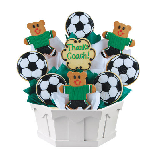 Soccer Thank You Cookie Bouquet