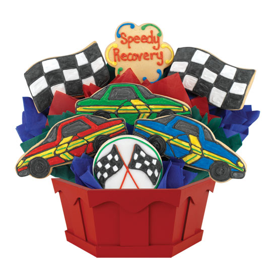 Speedy Recovery Cars Cookie Bouquet