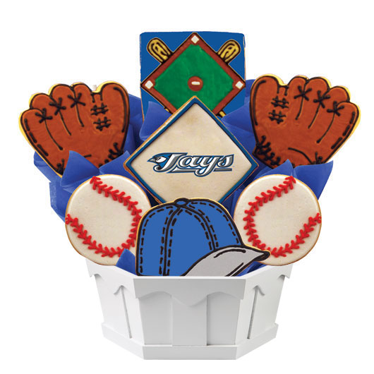 MLB Bouquet - Toronto Bluejays Cookie Bouquet