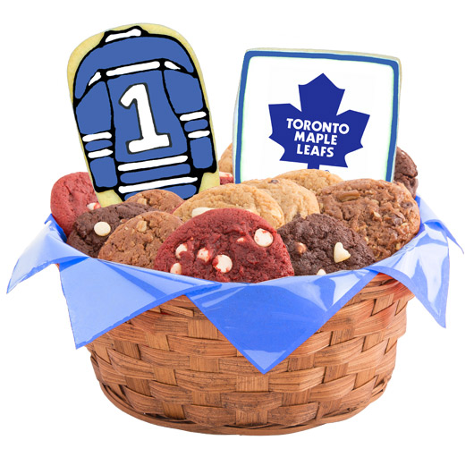 Hockey Cookie Basket - Toronto Maple