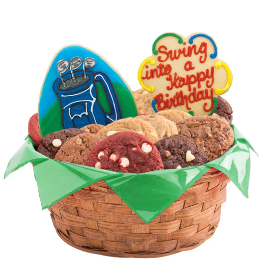 Swing into a Happy Birthday Cookie Basket