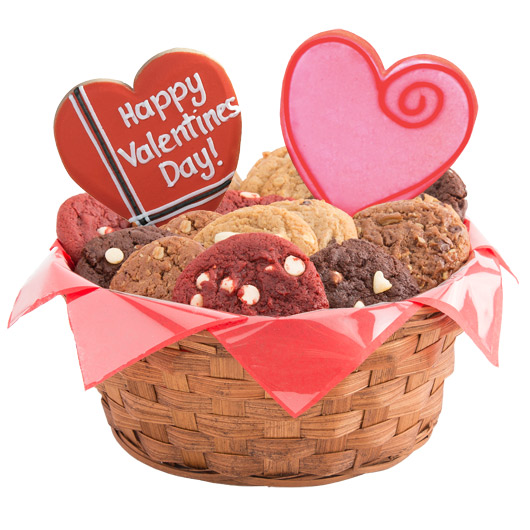 Sweet Valentine Cookie Basket