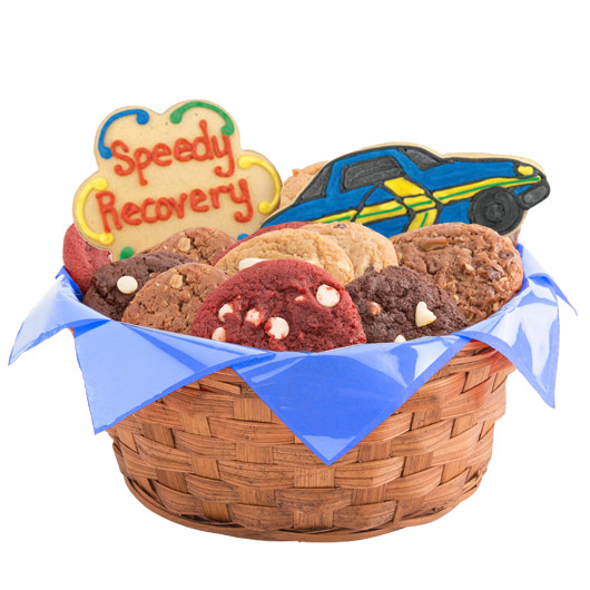Speedy Recovery Cars Cookie Basket