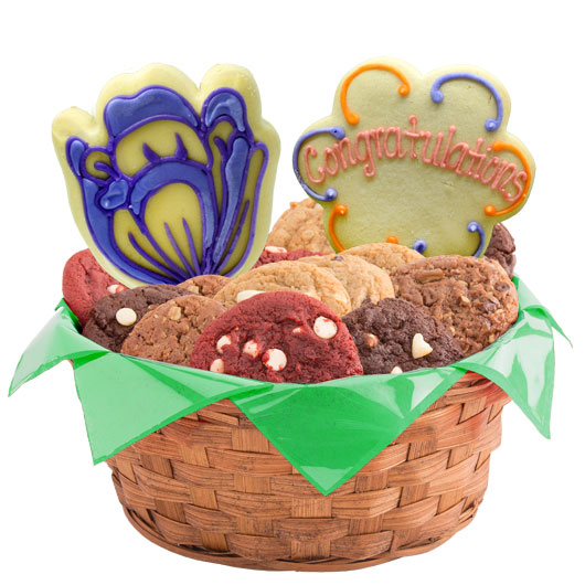 Congratulations Spring Blossoms Cookie Basket