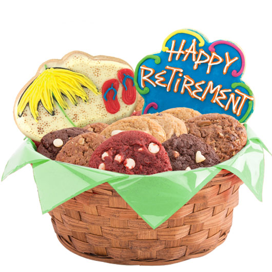Sunny Retirement Wishes Cookie Basket