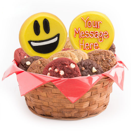 Sweet Emojis Cookie Basket
