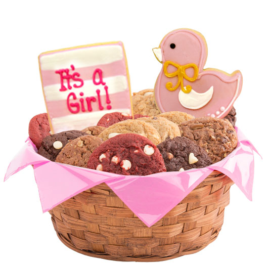 It's a Girl Cookie Basket