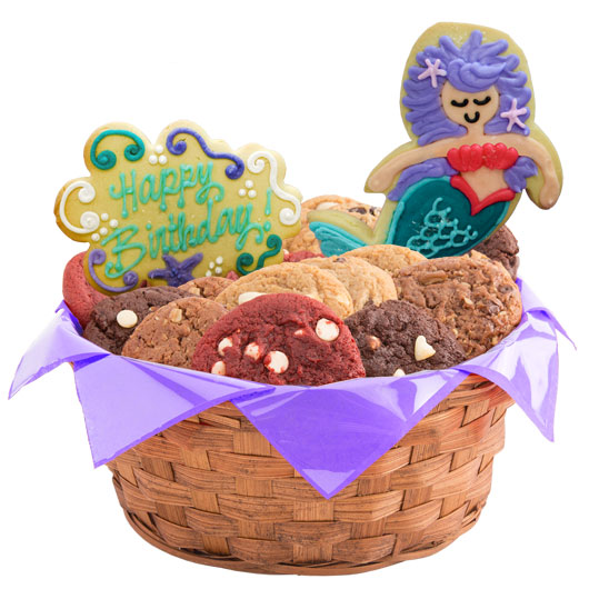 Majestic Mermaids Birthday Cookie Basket
