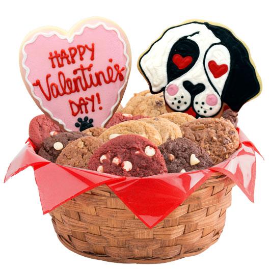Dog Themed Gift Basket -Valentine's Day
