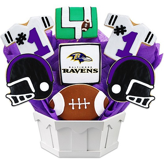 Football Bouquet - Baltimore Cookie Bouquet
