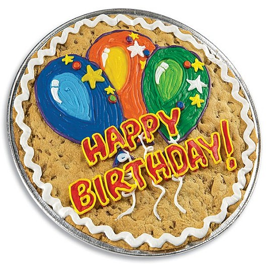 Birthday Balloons Cookie Cake