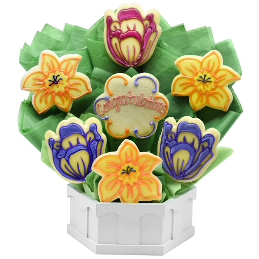 Congratulations Spring Blossoms Cookie Bouquet