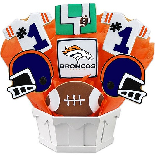Football Bouquet - Denver Cookie Bouquet