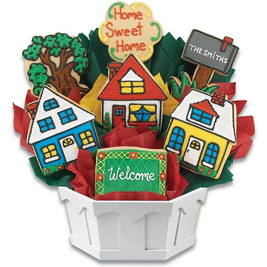 Houses Cookie Bouquet
