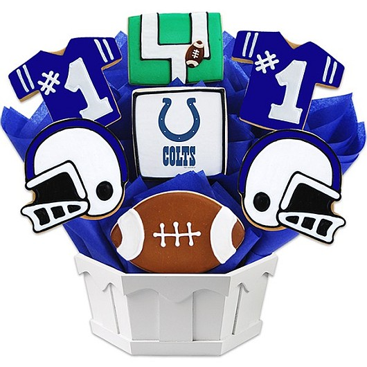 Football Bouquet - Indianapolis Cookie Bouquet
