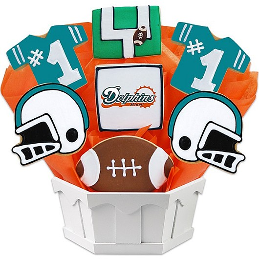 Football Bouquet - Miami Cookie Bouquet