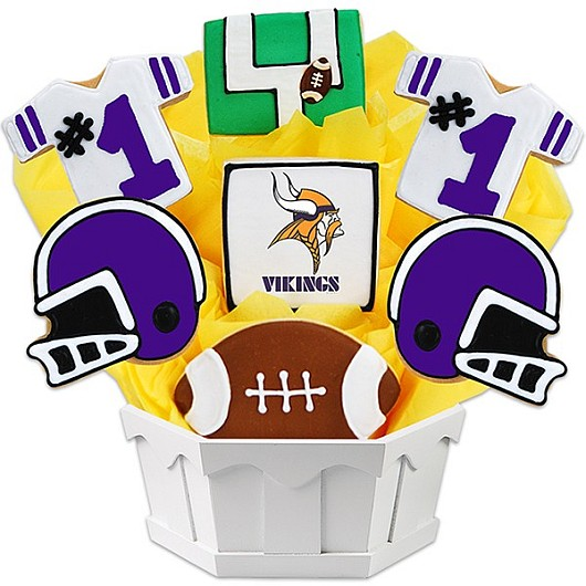Football Bouquet - Minnesota Cookie Bouquet