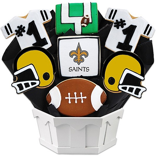 Football Bouquet - New Orleans Cookie Bouquet