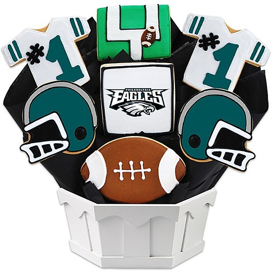 Football Bouquet - Philadelphia Cookie Bouquet
