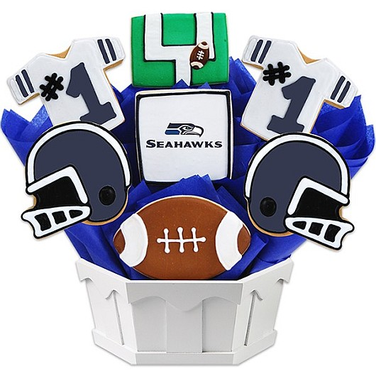 Football Bouquet - Seattle Cookie Bouquet