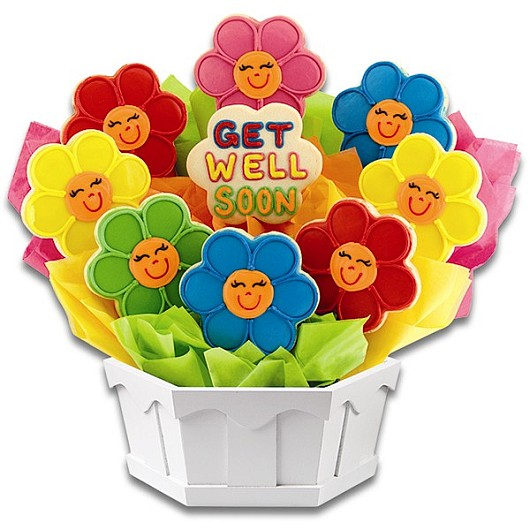 Share a Smile Daisies Cookie Bouquet