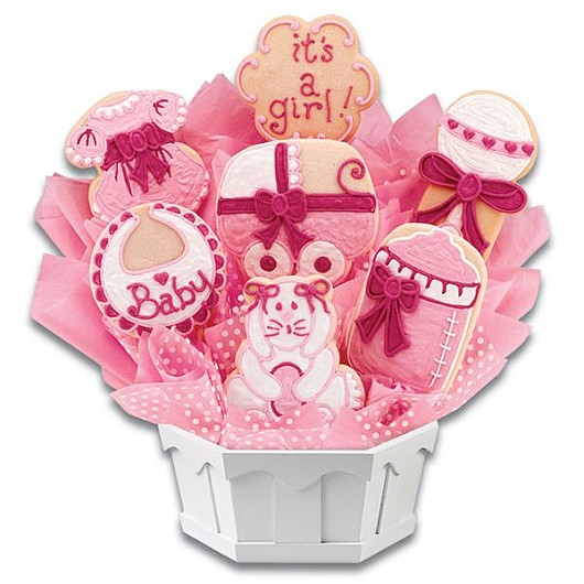 Sweet Baby Girl Cookie Bouquet