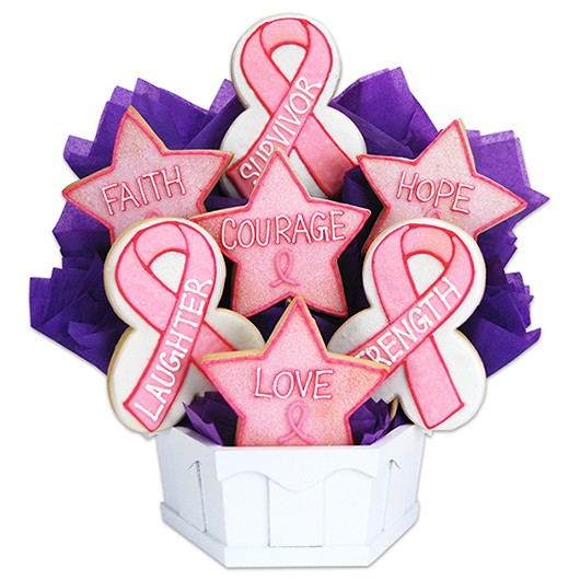 Hope, Faith, Love, Awareness Cookie Bouquet
