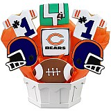 NFL1-CHI - Football Bouquet - Chicago