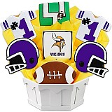 NFL1-MIN - Football Bouquet - Minnesota