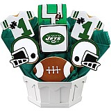 NFL1-NYJ - Football Bouquet - New York (Green)