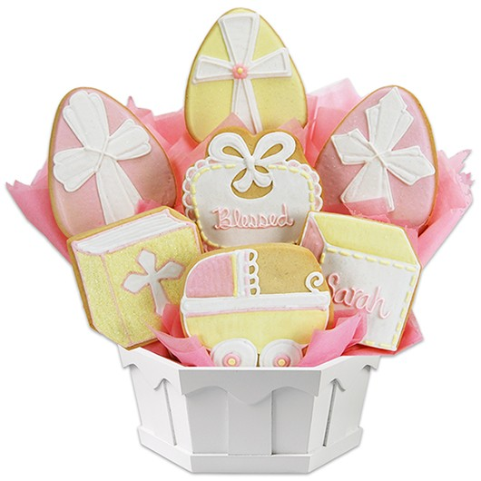 Blessed Baptism  - Girl Cookie Bouquet