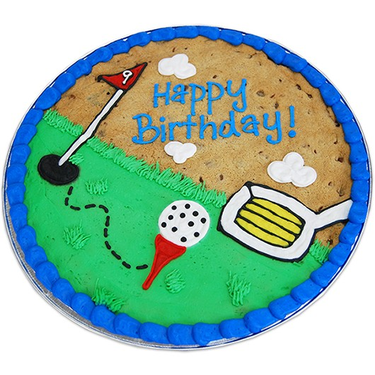 Tee Time Happy Birthday Cookie Cake