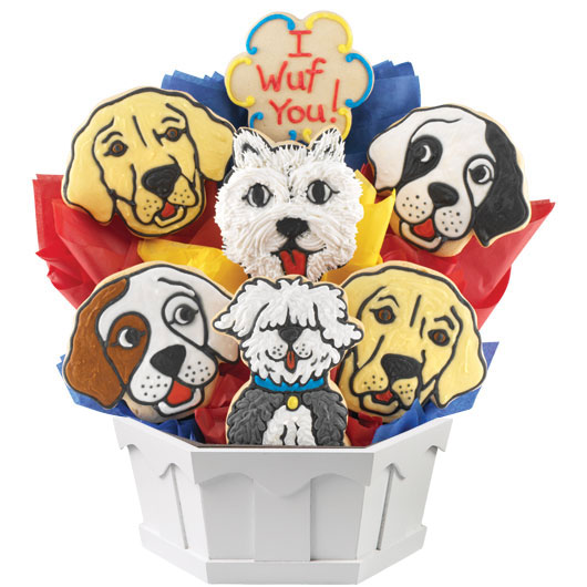 Puppy Love Cookie Bouquet