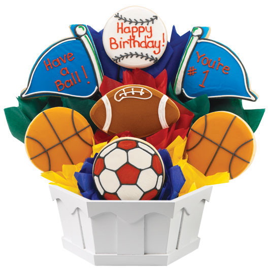 Sports Fan Birthday Gift Birthday Gift for Him Cookies by Design