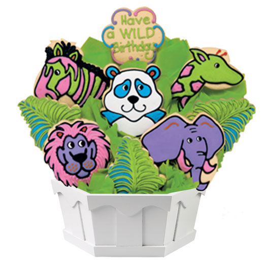 Birthday Cookie Bouqet for Kids Cookies by Design