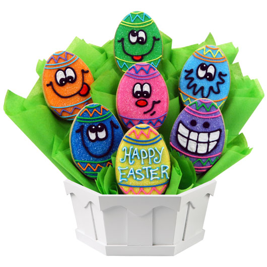 Wacky Eggs Cookie Bouquet