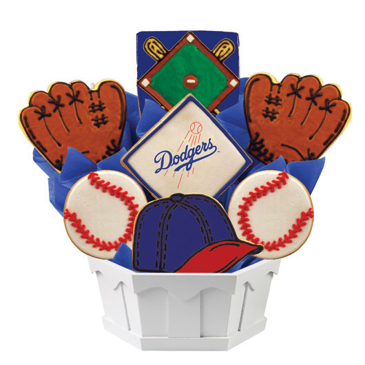 MLB Bouquet - Los Angeles Dodgers Cookie Bouquet