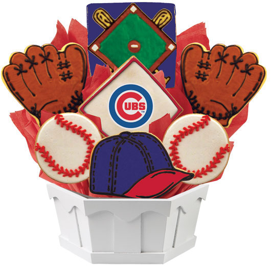 MLB Bouquet - Chicago Cubs Cookie Bouquet