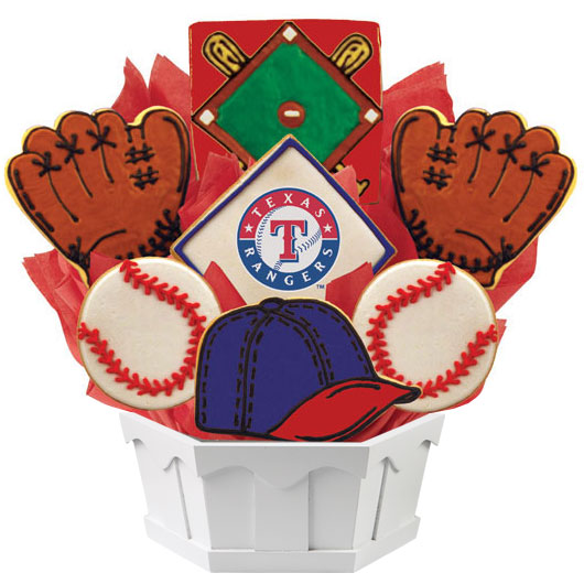 MLB Bouquet - Texas Rangers Cookie Bouquet