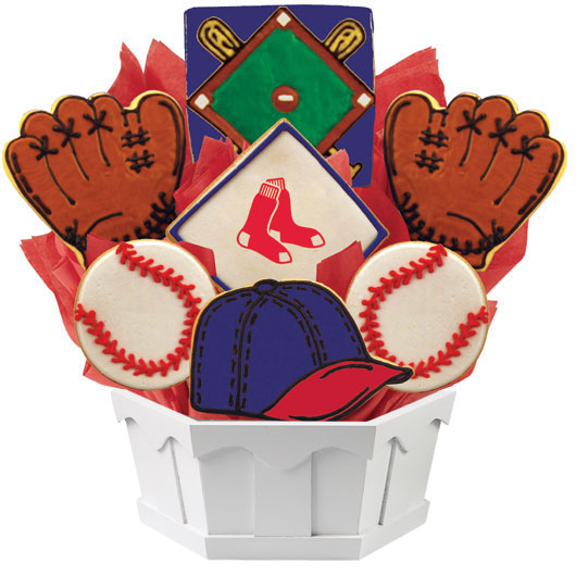 MLB Bouquet - Boston Redsox Cookie Bouquet