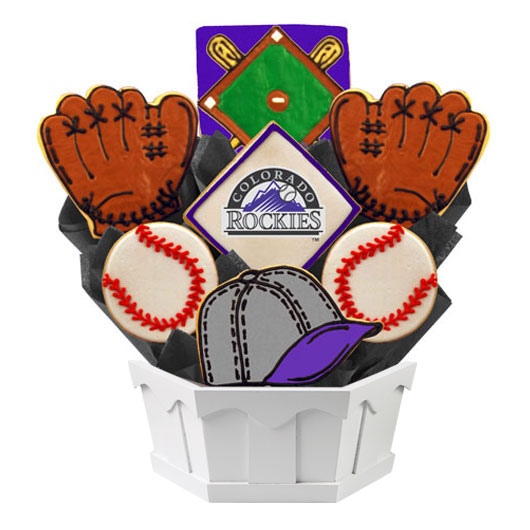 MLB Bouquet - Colorado Rockies Cookie Bouquet