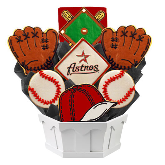 MLB Bouquet - Houston Astros Cookie Bouquet