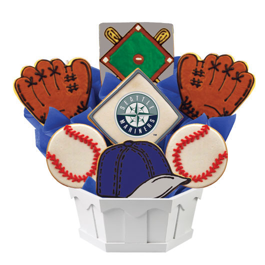 MLB Bouquet - Seattle Mariners Cookie Bouquet