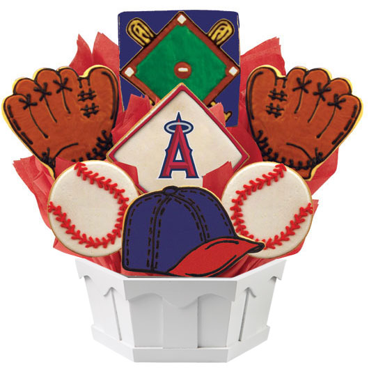 MLB Bouquet - Los Angeles Angels of Anaheim Cookie Bouquet