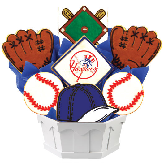 MLB Bouquet - New York Yankees Cookie Bouquet