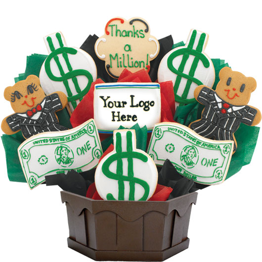 Dollar Signs & Bills Cookie Bouquet