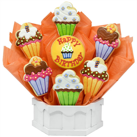Happy Birthday Cookie Bouquet Bday Gift Delivery